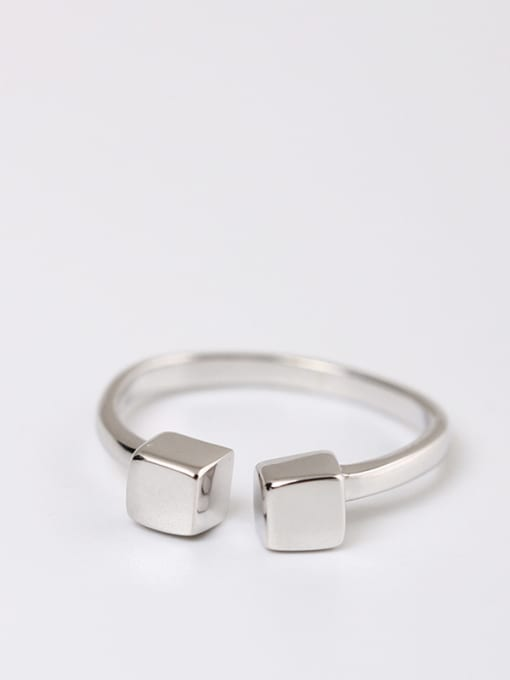 SILVER MI Shining Simple Style Opening Ring 0