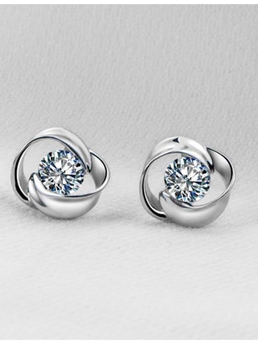 F Women 925 Silver Elegant stud Earring