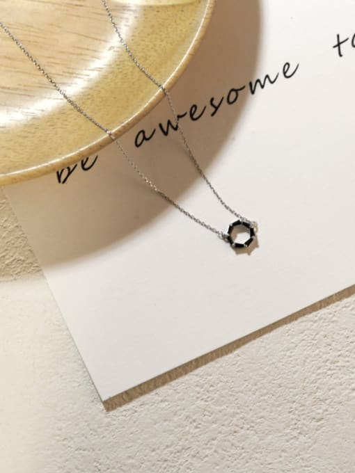 Peng Yuan Fashion Little Round Silver Necklace 2