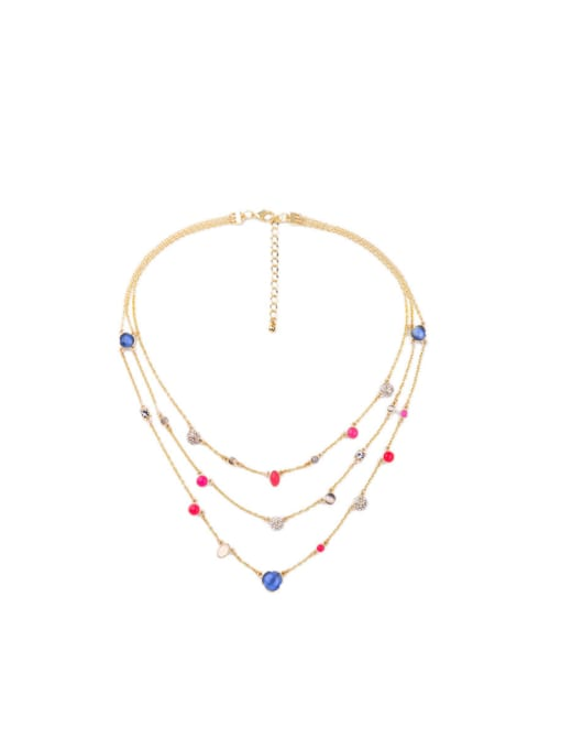 KM Simple Style Fresh Multi-layer Necklace