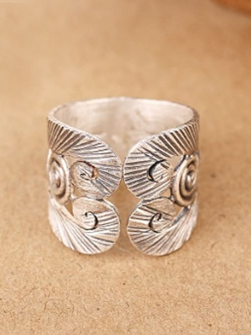 Peng Yuan Retro style Personalized Silver Ring