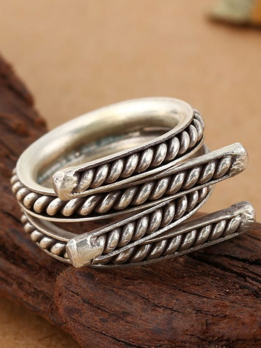 Peng Yuan Personalized Silver Handmade Opening Ring 1