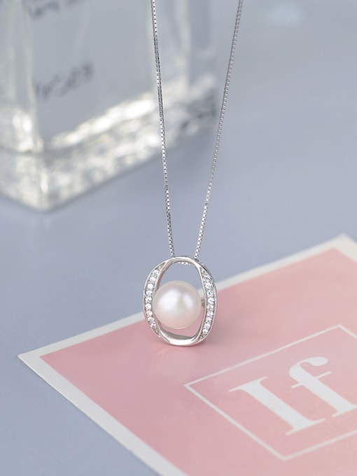 One Silver 925 Silver Freshwater Pearl Pendant 2