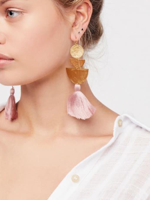 KM Artificial Geometric Stones drop earring 1