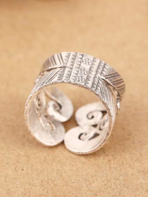 Peng Yuan Retro style Personalized Silver Ring 3