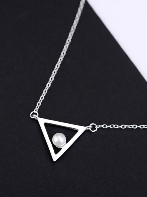 Peng Yuan Freshwater Pearl Triangle Silver Necklace 0
