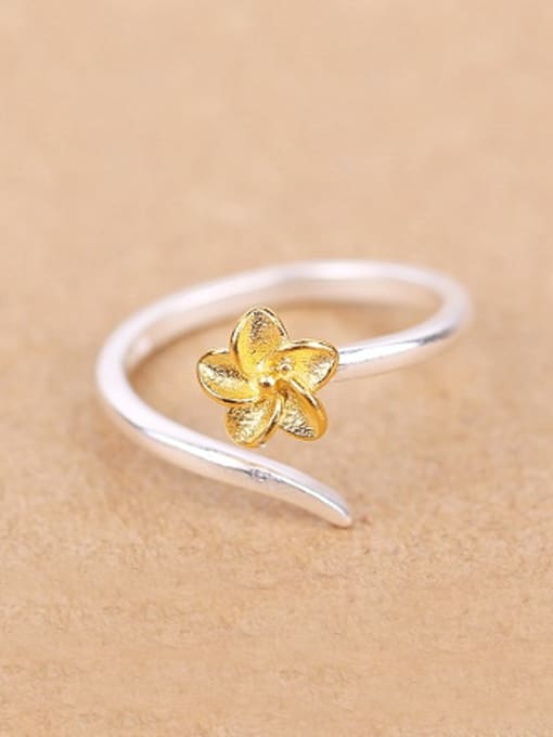 Peng Yuan Ethic Little Flower Opening Ring