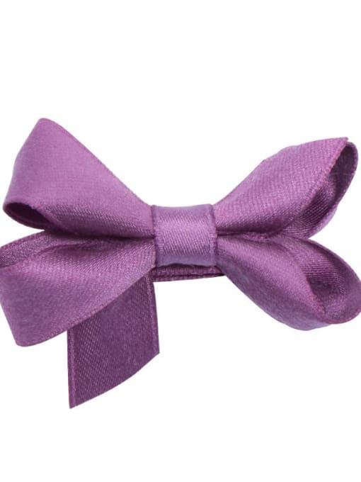 6 grape purple Alloy Fabric Cute Bowknot  Multi Color Hair Barrette