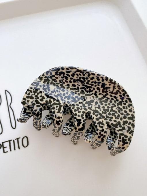 Leopard print rice black 8cm Cellulose Acetate Minimalist Geometric Jaw Hair Claw