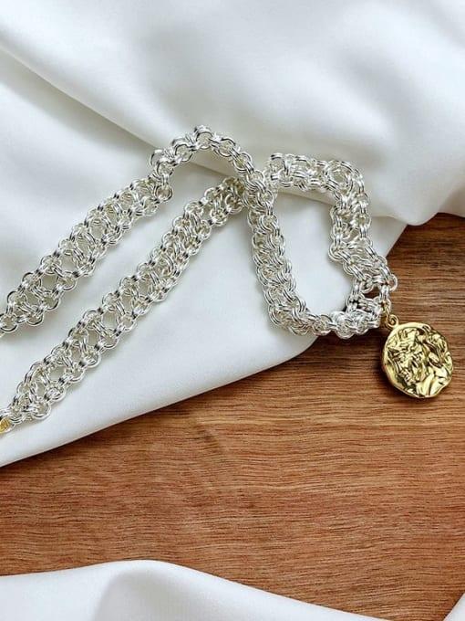 CONG Brass Geometric Vintage Multi Strand Necklace 2