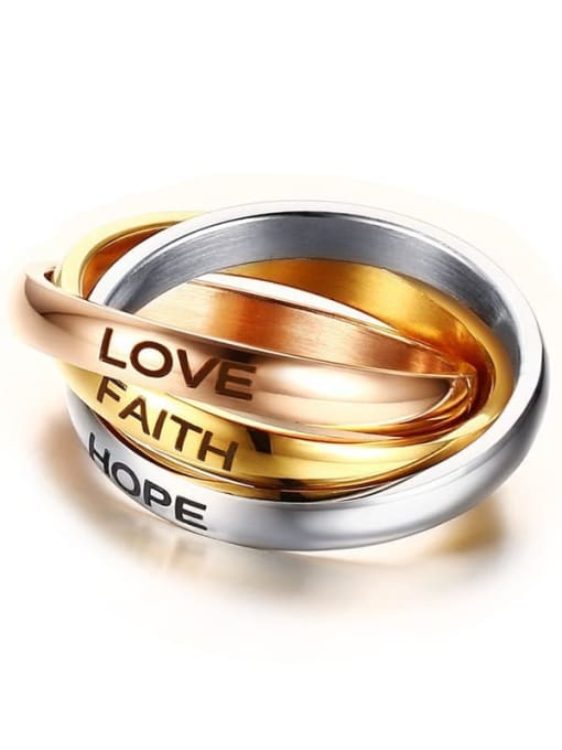 Style 3 5- 10# Titanium Steel Geometric Minimalist Stackable Ring