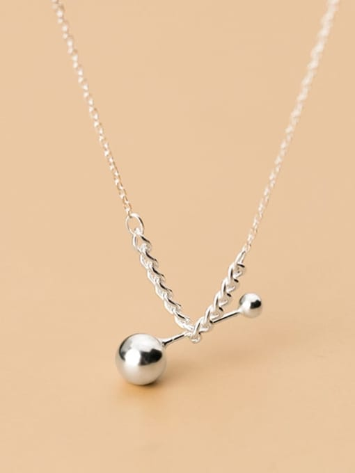 Rosh 925 Sterling Silver Ball Minimalist Necklace 1