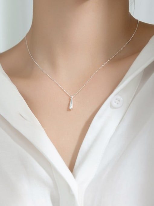 Rosh 925 Sterling Silver Water Drop Minimalist Necklace 1