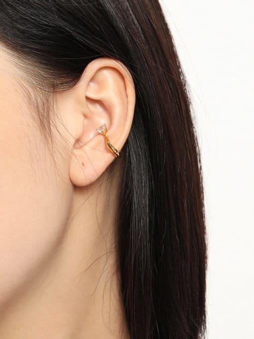 DAKA 925 Sterling Silver Cubic Zirconia Heart Minimalist Single Earring 3