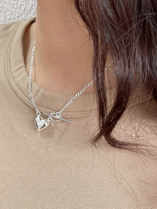 Boomer Cat 925 Sterling Silver Heart Minimalist Necklace 1