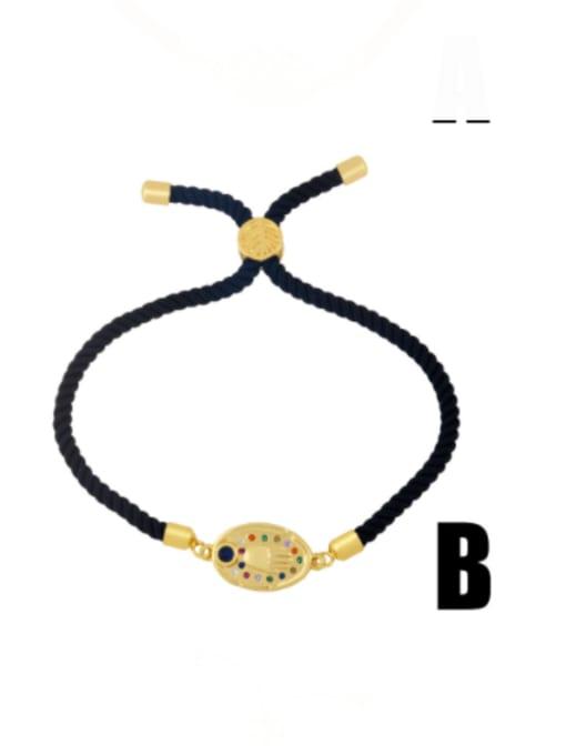 B Brass Cubic Zirconia Butterfly Minimalist Link Bracelet