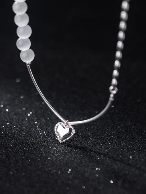 Rosh 925 Sterling Silver Bead Geometric Minimalist Strand Bracelet 1