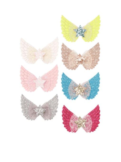 YOKI KIDS Alloy  Silk Cute Butterfly Multi Color Hair Barrette 0