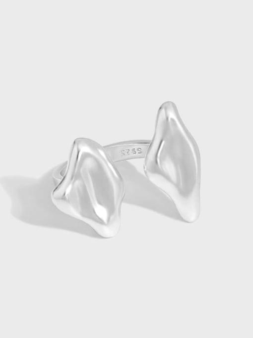 DAKA 925 Sterling Silver Smooth Geometric Minimalist Band Ring 4