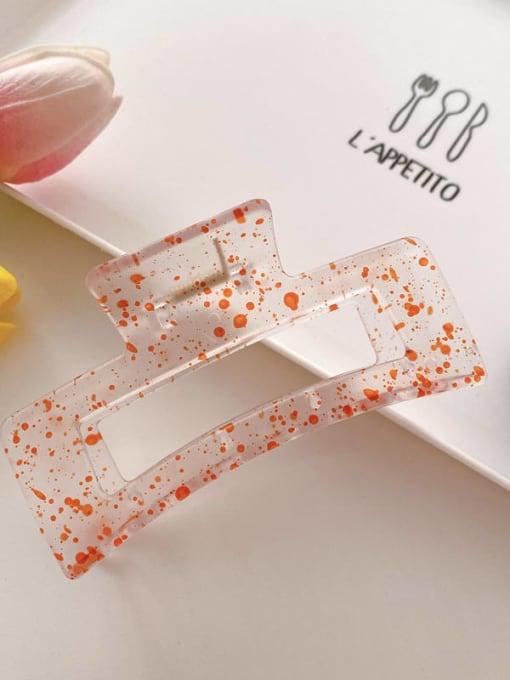 Orange 10.5cm Cellulose Acetate Minimalist Geometric Jaw Hair Claw