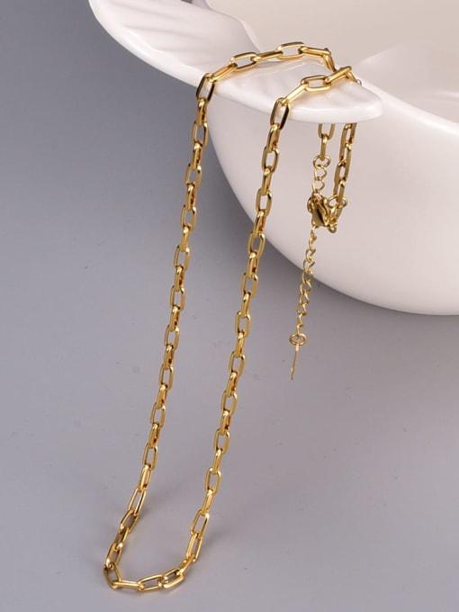 A TEEM Titanium Steel Geometric Minimalist Necklace 0