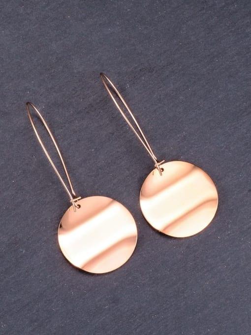 A TEEM Titanium Letter Minimalist Hook Earring 3