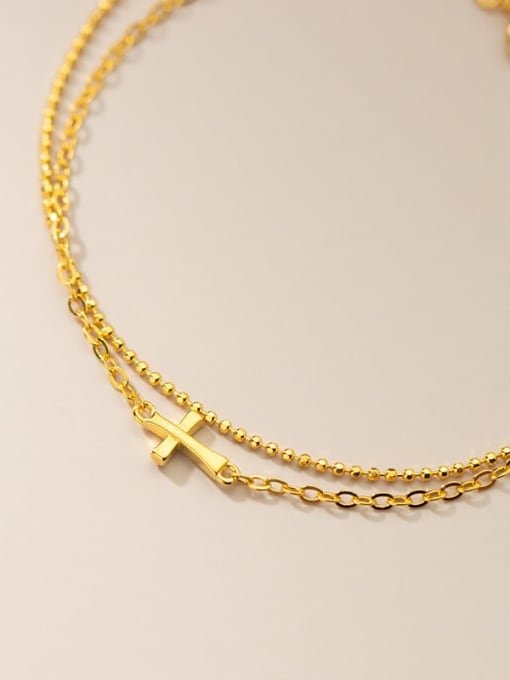 Rosh 925 Sterling Silver Geometric Minimalist Strand Bracelet 3