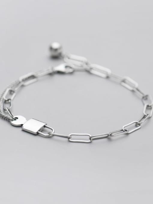 Rosh 925 Sterling Silver Geometric Vintage Link Bracelet 0