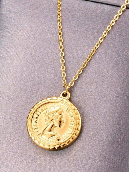 A TEEM Titanium Round Vintage pendant Necklace 4