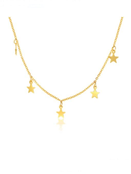 CONG Titanium Steel Smooth Star Minimalist Necklace 1