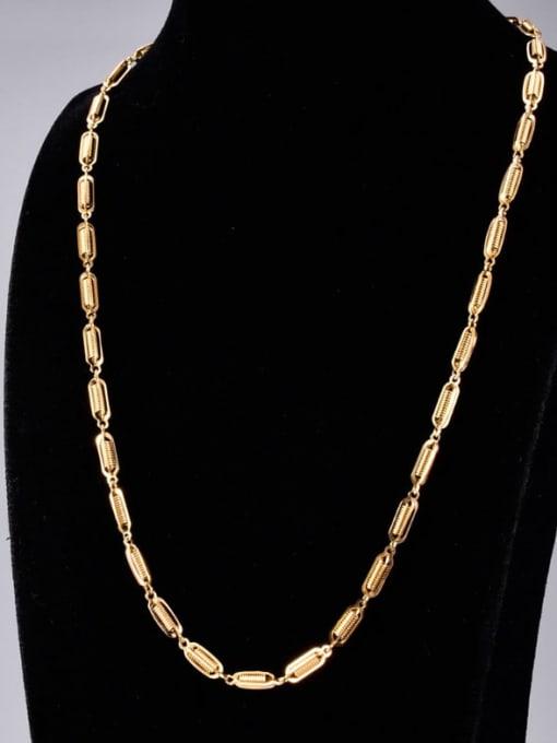 A TEEM Titanium Steel Irregular Hip Hop l+Hollow Chain Necklace 3