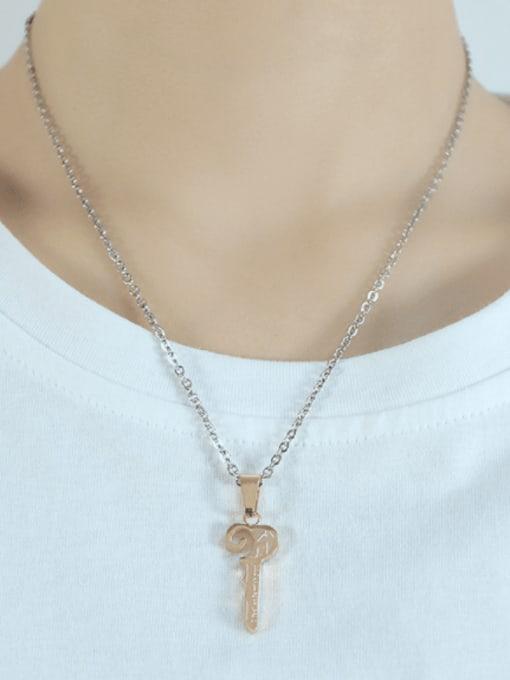 Open Sky Titanium Steel Key Minimalist Necklace 3