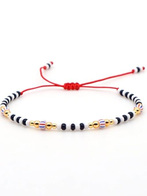 QT B200031D Stainless steel Miyuki beads Multi Color Geometric Bohemia Adjustable Bracelet