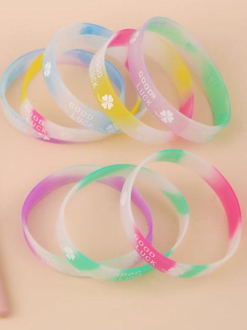 CC Sports silicone bracelet printed GOOD LUCK letter bracelet 4