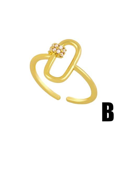CC Brass Rhinestone Snake Hip Hop Band Ring 1