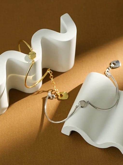 DAKA 925 Sterling Silver Geometric Minimalist Adjustable Bracelet 4