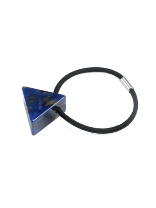 Dark blue Cellulose Acetate Minimalist Triangle Multi Color Hair Rope