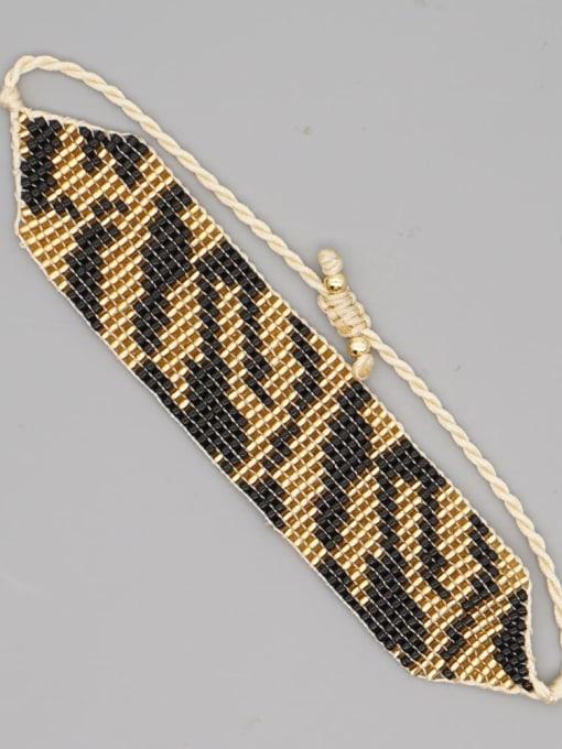 MG B200037A Multi Color MGB Bead Geometric Bohemia Adjustable Bracelet