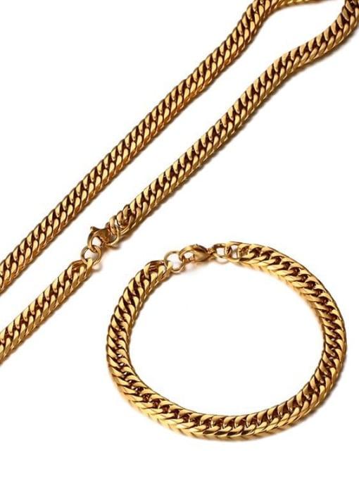 CONG Titanium Steel Geometric Chain Vintage Necklace 1