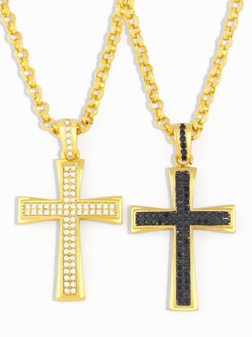CC Copper Cubic Zirconia Cross Vintage Regligious  pendant