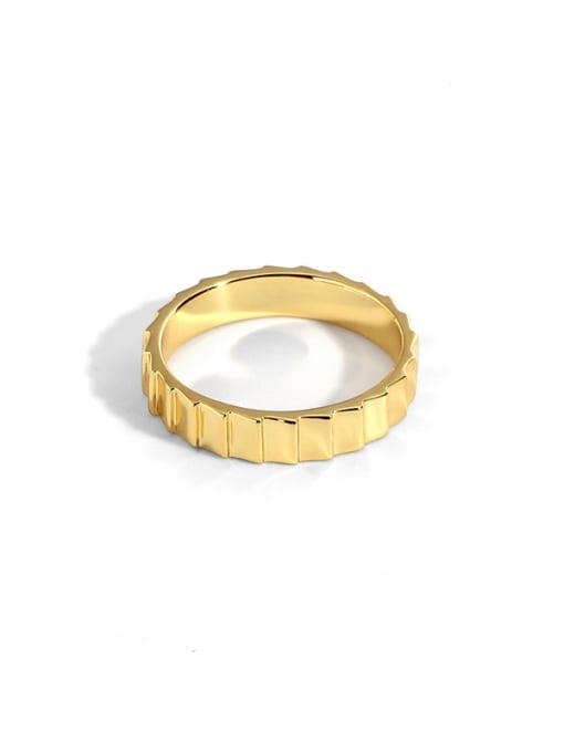 CHARME Brass Irregular Vintage Band Ring 0
