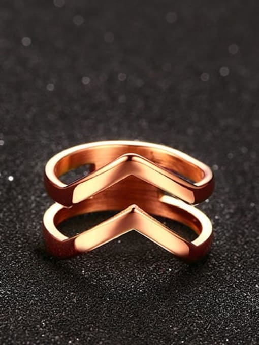 CONG Titanium Steel Geometric Minimalist Band Ring 3