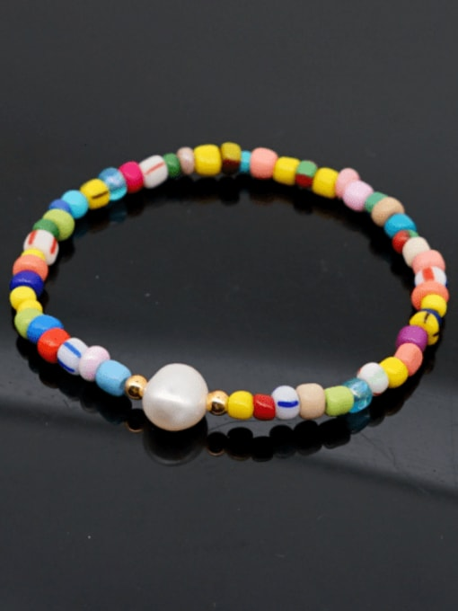 Roxi Stainless steel MGB  Bead Multi Color Letter Bohemia Stretch Bracelet 1