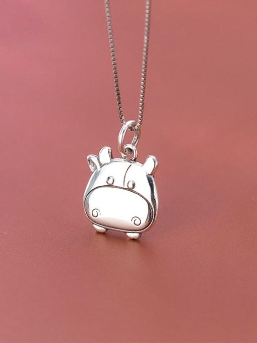 Rosh 925 Sterling Silver Minimalist Pig Pendant 2