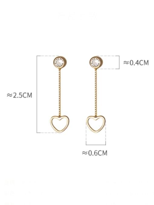 Rosh 925 Sterling Silver Heart Minimalist Drop Earring 3