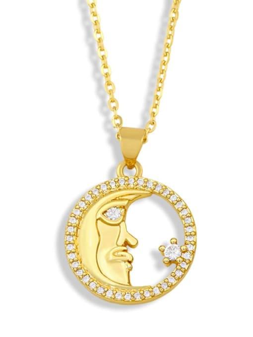 CC Brass Cubic Zirconia Letter Vintage Necklace 2