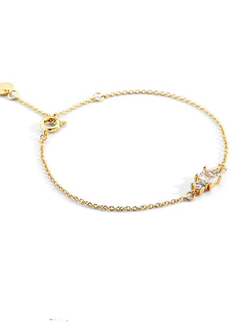 CHARME Brass Cubic Zirconia Geometric Vintage Link Bracelet 0
