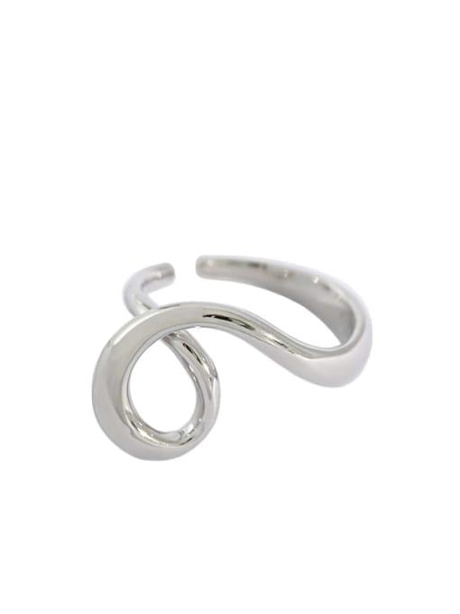 Dak Phoenix 925 Sterling Silver  Vintage Irregular single Heart-shaped  Band Ring 4