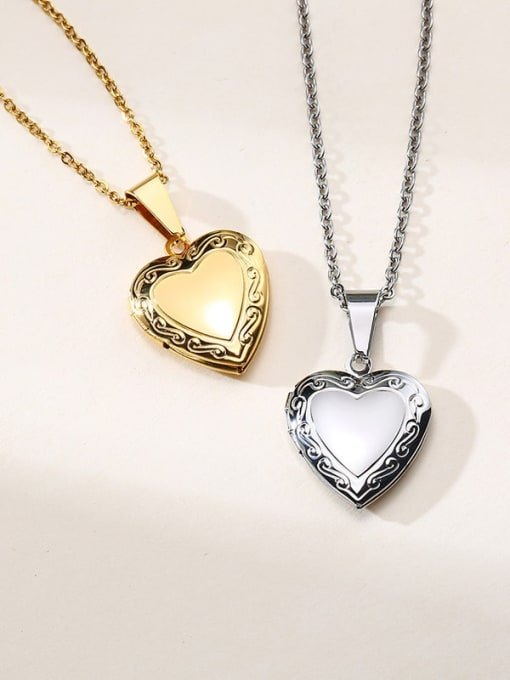 CONG Stainless steel Heart Minimalist Necklace 2