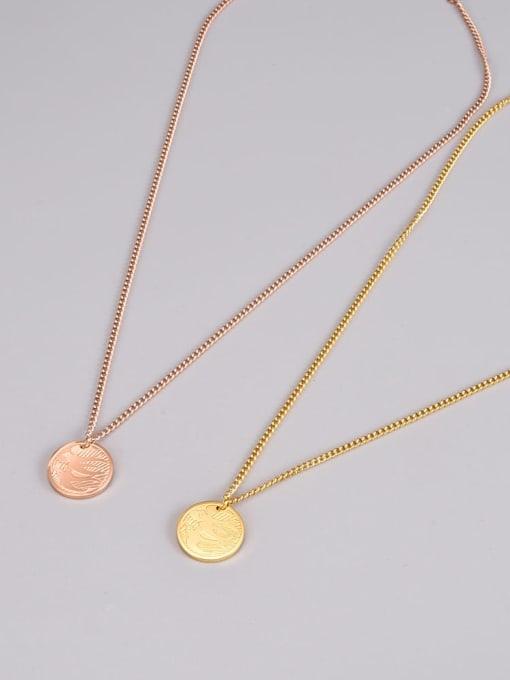 A TEEM Titanium Steel Round Minimalist Necklace 0